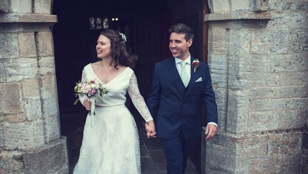 H and S just married | Limewood Flowers | Lincolnshire wedding florist | event florist | eco florist