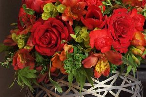 Dramatic red arrangement | Lincolnshire Florist | Limewood Flowers | Events